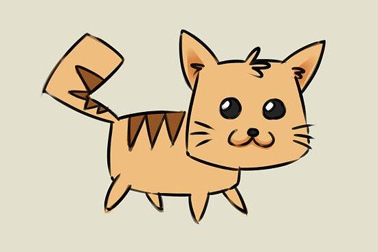 мультяшный котенок шаг 8